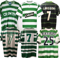 Celtic Retro 1995 97 1998 1999 Fussball Jerseys Startseite 95 96 97 98 99 Football Hemden Larsson Sutton Nakamura Keane Black Sutton 2005 06