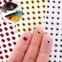 Nueva bricolaje Fsih Ojos de ojo de pez de pesca de señuelo 3colors 3mm 4mm 5mm 6mm simulación holográfica láser 3D