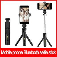 Bluetooth selfie bastone treppiede monopiedi integrati allungabile Autoritratto Stick stabilizzatore fotocamera multifunzionale di video Staffa DHL libero