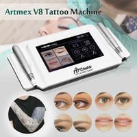 ArtMex V8デジタルタッチ永久化粧タトゥー機セットアイブローリップロータリーMTSとPMUシステムDerma Pen