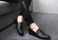Hot Sale-office loafers homens sapatos formais mens sapatos de couro sapatos de crocodilo italiano designer de tecelagem mens oxfords casamento