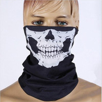 6 colori inverno moto ciclismo maschera bandana tubolare cranio fantasmi fantasma motor bike sport sciarpa collo scaldino maschera per il viso
