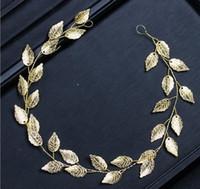 Neue europäische und amerikanische Haarschmuck Gold und Silber Blatt Haarkleid Zubehör BrautTiara Band Hochzeit Stirnband
