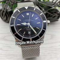 Nueva Superocean Heritage II AB2010121 42mm Dial Negro Reloj para hombre automático de pulsera de acero inoxidable relojes caballero de alta calidad Watch_Zone