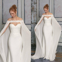 2019 Lace Applique Bridal Jackets Custom Made Cheap Long Chi...