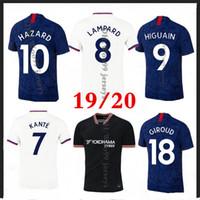 Nouveau Jersey de football pulisique de 2019 Kante Kante Kante Jorginho 2019 2020 Giroud Camiseta de football Kits Chemise 19 20 Maillot Camisetas