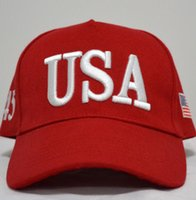EE.UU. Bandera Cap algodón del sombrero de las gorras de béisbol 45 Presidente Donald Trump Soporte gorra de béisbol del Snapback unisex Novedad Sombreros ajustables GGA3363-4