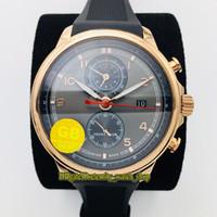 GBF V3 versão de atualização Portugieser Yacht Club Cronógrafo 390.209 Cal.89360 cronógrafo automático Dark Gray Dial Mens Watch Sapphire Relógios