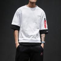 새로운 Tshirt 남성 반 소매 목 남성 느슨한 맞춤 T 셔츠 인쇄 유명 남성 브랜드 디자인 T 셔츠 힙합 남성 Tshirt 핫