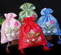 ricami fatti a mano del nastro Candy Bag / Sacchetti Di Caramelle uovo hi / goodie bags Organza Bags gioielli regalo Sacchetti Gioielli Sacchetti 441