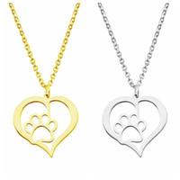 المرأة الفولاذ المقاوم للصدأ قلادة الكلب مخلب الحب القلب تصميم الجوف المختنق قلادة القلائد الفضة الذهب اللون أزياء الاشتباك مجوهرات الهدايا