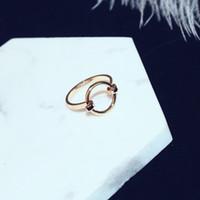 Personalizzato Creativo Open Rose Anello in oro rosa Moda squisita temperamento alla moda femminile anello aperto moda modello di gioielli selvatici regalo