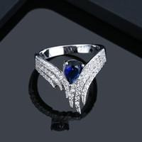 Bester Verkauf Explosion Modelle 4 verschiedenen Farben Zirkon Ring weiblichen Engelsflügel romantische Paare Ring Einzelhandel, Großhandel