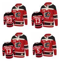 Calgary Flames Толстовка 13 Джонни Гудро 19 Matthew Ткачук 12 Игинла 5 Марк Джордано 23 Шон Монахан Old Time Hockey Jersey пуловер