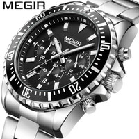 Mei gainer megir Multi-Function Watches Men's Fashion Sports Business Calendar Luminous Watch Quartz Watch 2064