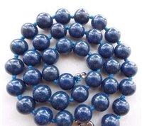 18''sv05 10MM Blu Egygtian Lapislazzuli Beads rotonda gemme collana