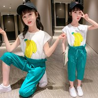 Summer Girls Clothes Sets Baby Girl Sleeveless Tees Tops + C...