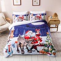 Classic Buon Natale Fawn modello 3Pcs Set Stampa / letto di morbida 100% cotone Lenzuola Biancheria da letto di uscita