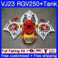 Кузов+бак для SUZUKI VJ21 RGV250 88 94 95 96 97 98 309HM.27 RGV-250 VJ23 Lucky white hot VJ 22 RGV 250 1988 1994 1995 1996 1997 1998 обтекатель