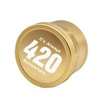 63MM Grinder Aviation Aluminium Tabak Herb hohe Qualität Großhandelspreis individuelles Logo