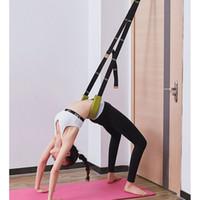 Flexibilidad que estira la correa de la camilla de la pierna para el ballet cheer dance gymnastics entrenador confort diseño yoga estirar cinturón yoga