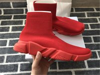 Designer Speed ​​Trainer Luxury Knited Shoes Womens Mens Casual Shoes Nero Bianco Rosso Flat Fashion Speed ​​Knit Socks Sneakers Fashion Trainers