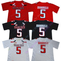 Patrick Mahomes II College Jeresey NCAA Texas Tech TTU Football Jerseys Home Away Hommes Taille S-3XL Tout cousu