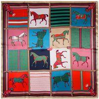 moda moda- Scarf 90 centímetros * 90 centímetros New manta Horse Carriage Silk Scarf Grande Praça Lenços