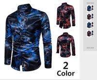 Novo estilo de lazer masculino e de auto-cultivo da versão coreana de manga comprida camisas em comércio exterior em 2019
