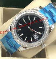 뜨거운 판매 8 스타일 럭셔리 시계 망 다이아몬드 시계 41mm 실버 골드 및 스틸 116334 아시아 2813 자동 패션 남자 시계 손목 시계