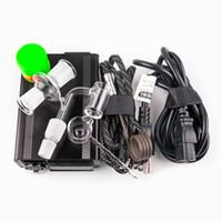 Email Electric Nail Control Box mit 14mm 18mm männlichen Quarzhukäsnen Nägel 20mm Spulenheizung Kit Silikon Pad Titanglas DAB Rig