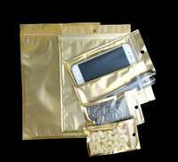 8 * 13 cm 9 * 16cm 10 * 18 cm opakowania detaliczne małe zapinane na plastikowe torby z otworem z zawieszeniem, mała prezent opakowania złota torba