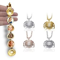 Fashion Silver Expanding Photo Locket Photo Box Necklace Lucky Angel Wings Image Cage for Gift Pendant Long Chain Necklace Lover Gifts