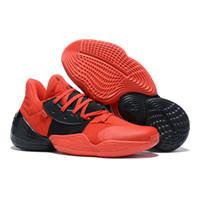 Toptan Erkek James Harden 4 Vol.4 4 S IV MVP BHM Siyah Erkek Basketbol Ayakkabı Açık Spor Eğitim Sneakers Beden Bize 7-12