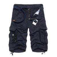 الرجال قصيرة الخامسة القطن الصيف الجديدة عارضة الازياء فستان شورت متعددة جيب التمويه الحرة الشحن 29-40 بدون حزام