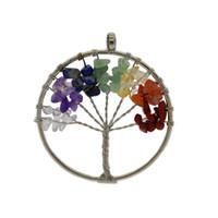 DIY handgefertigte Accessoires Kupfer Achat Stein gebrochen Stein Lebensbaum hängen Ornamente Wunsch Baum Halskette Anhänger