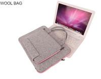 Die Fabrik Filztasche tragbare Laptop-Tasche Notebook-Auskleidungssack Tablet-Computer Beutel anpassbare Multi-Farben Tasche Box Home Office trav