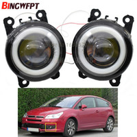 2pcs / pair (Izquierda + Derecha) Angel Eye car-styling Lámparas de niebla LED para Citroen C3 C4 C5 C6 C-Crosser Xsara Picasso 1999-2015