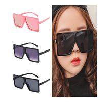 Mode Kinder Sonnenbrille Kinder Übergroße Rahmen Sonnenbrille Anti-UV-Brillen Baby Goggle Quadratische Brillen Adumbral A ++