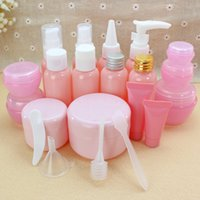 Travel cosmetics bottle pink spray bottle mouth pressure bea...