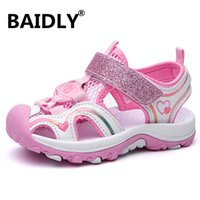 Cute Summer Girls Sandals Pu Leather Toddler Kids Shoes Closed Toe Baby Girl Shoes Orthopedic Beach Sandals
