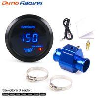 2 '' 52mm Car Digital Blue LED Temperatura dell'acqua Calibro 40-150 Celsius con ACQUA AD ADATTATORE AD ADATTATORE AD ADATTATORE 1 / 8NPT