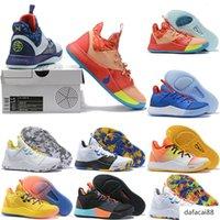 2019 Yeni Paul George PG 3 3S PALMDALE III P.GEORGE Basketbol Ayakkabı Ucuz PG3 Starry Mavi Turuncu Siyah Spor Sneakers Boyut 40-46