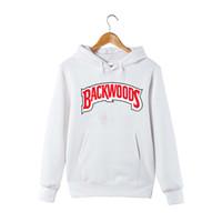 Moda-Kış Sonbahar Backwoods Hoodie Siyah Beyaz Gri Hoodie Backwoods Uzun Kollu Hip Hop Tasarımcı Tişörtü Boyut S-4XL
