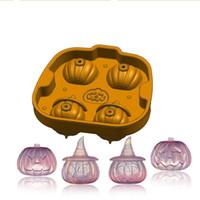 Chocolates Mold Festa de Silicone Favor O Presente de Halloween Padrão Pirat Die 3D Cabeça de Abóbora Gelo Lattice Fábrica Venda Direta 14 3FL P1