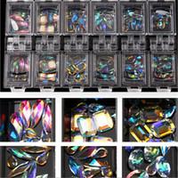 Tırnak Kristal AB Cam Rhinestone Düzensiz Karışık At Gözler Waterdrop Şekli DIY Çivi Sanat Rhinestones