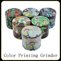 Newest Herb Grinder 40 50mm 6 colors 4 layers Tobacco Grinde...