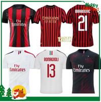 20 21 Milan Ibrahimovic 21 Romagnoli 120 Th Caque Jersey Suso 19 20 21 Chemise de football Kessie Paquetta Shirt Jersey de football