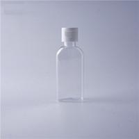 60 ml El Dezenfektanı Pet Plastik Şişe Kapaklı Üst Kapaklı Düz Şekil Şişesi Kozmetik İçin Sıvı Dezenfektan Sıvı