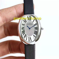 Нового бенуар Алмазной Женщина Часы Овальных Lady Часы Swiss 6T51 автоматических механический Сапфир 904L нержавеющей сталь Водонепроницаемая